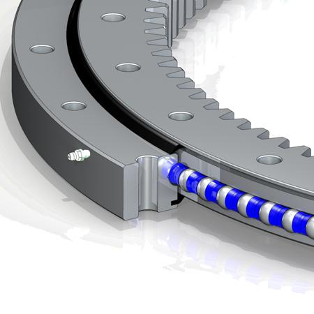 Guľkové ložiskové otoče s vnútorným ozubením
